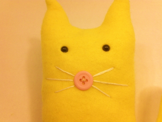 Yellow Kitty Kitty Plush