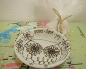Owl Peace Love Joy Soap Dish