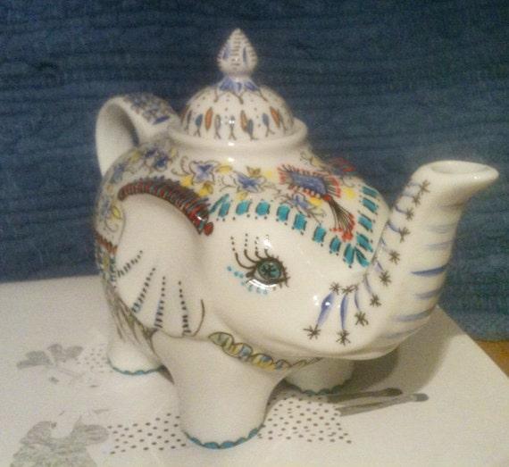 Colorful Elephant Teapot