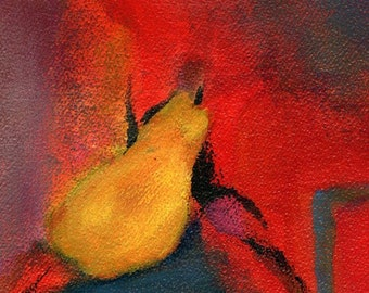 Art Print of Original Acrylic Painting - Lonely Pear