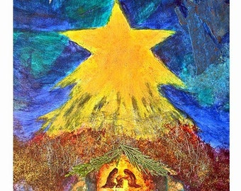 Nativity Christmas Fine Art Print Nativity Image Birth of Christ