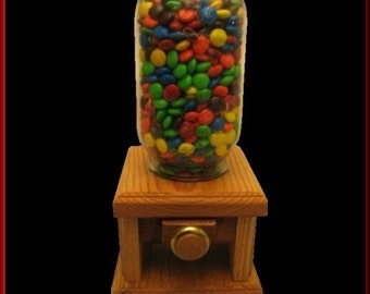 Candy Dispenser with Oak Knob