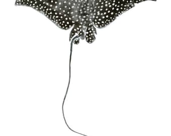 Spotted Eagle Ray- Limited edition reproduction of original gyotaku