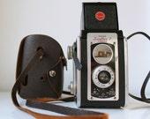 Vintage Kodak Duaflex II camera with leather case