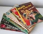vintage 1950s PULP CRIME bundle 2, 1950 to 1961