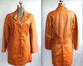 vintage mod leather coat, women's Sm - M / the GOLDEN HONEY jacket