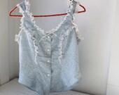 vintage 1980s BAKER'S DAUGHTER prairie blouse