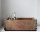 vintage 1960s pepsi crate / rustic industrial  / repurpose for home decor, storage, organization / Mom's SODA POP shelf 2