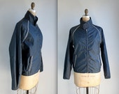 vintage 1960s jacket. Nylon windbreaker by Boat Jac. Nautical mod / the SURFSIDE SMOKE jacket. Men's medium, Women's large