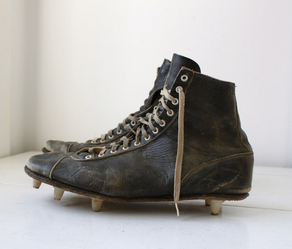 vintage 1940s football cleats by magnus 115