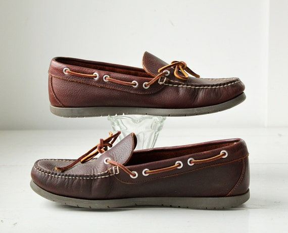 Vintage 1980s Men S Boat Shoes By Llbean By