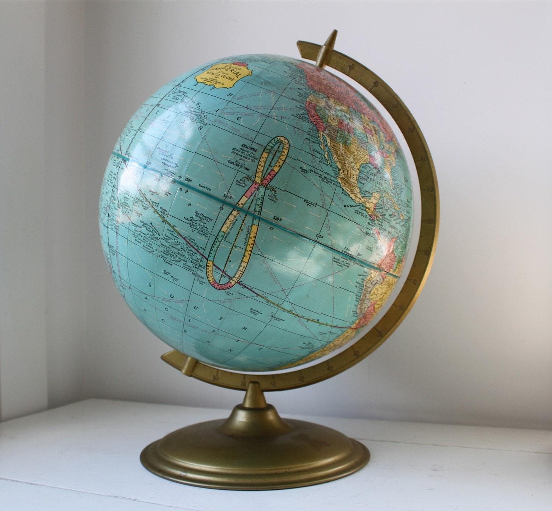 vintage 1964 Cram's Imperial school globe