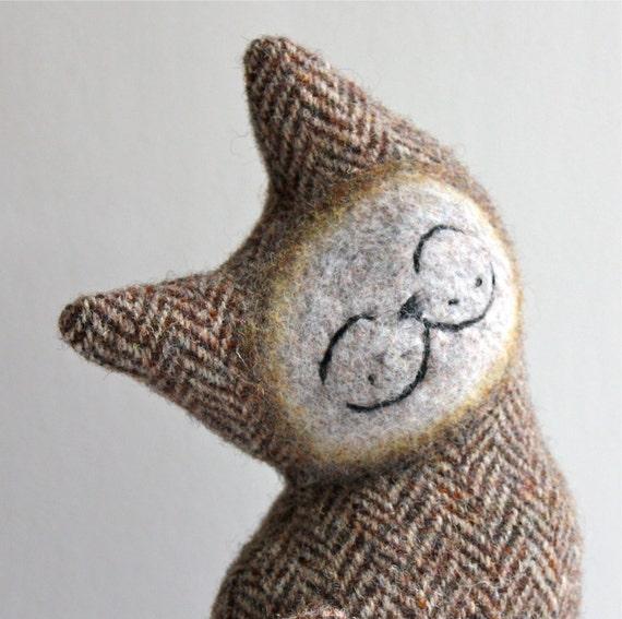 Cat Plush Folk Wool - French Toast Cat