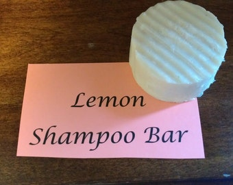 Lemon Shampoo Bar