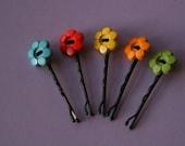 5 Flower Hair Pins