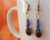 Hearts and hugs...Authentic Fair Trade Coffee Bean Earrings .. FREE SHIPPING