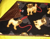 Small Dog Minky Dot Blanket Crate Pad Pug Lovers