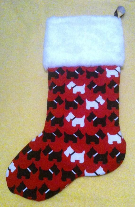 Scotty Dog Christmas Stocking