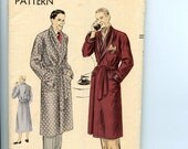 1951 Vogue Pattern 8753 Men's Robe with Shawl Collar, Pockets Complete