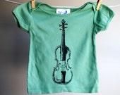 Fiddle - Violin Infant Shirt -  Organic -  sized 6 through 12 months