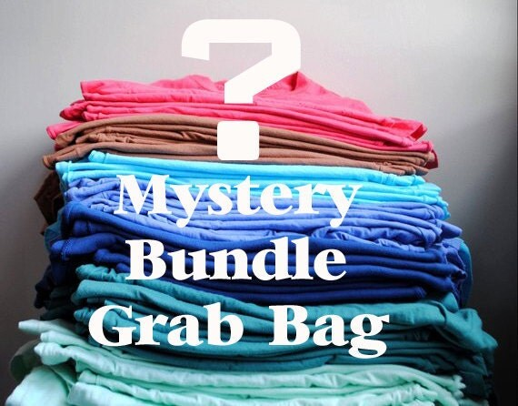 Mystery Bundle Grab Bag -  5 shirts for the price of 3  - - a 40 percent savings - -  size 8 Girl
