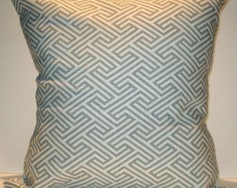 New 18x18 inch Designer Handmade Pillow Cases. Cool grey pattern on white.