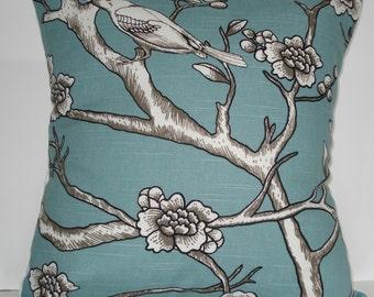 New 18x18 inch Designer Handmade Pillow Case. Dwell Studio. bird.
