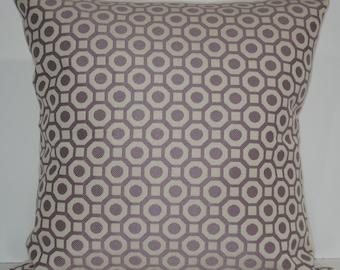New 18x18 inch Designer Handmade Pillow Cases. lavender graphic pattern.