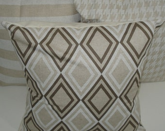 THREE New 18x18 inch Designer Handmade Pillow Cases