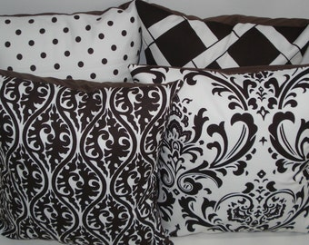 FOUR New 18x18 inch Designer Handmade Pillow Cases