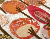 Paper Trees - Friendly Forest Crisp Autumn Day Collection