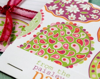 Paisley Patch Note Sheets and Matchbook Notebook Set