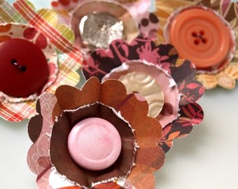 Paper Flowers - Posey Patch Summer Romance Collection - set 5