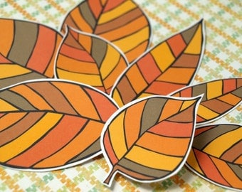 Fall Leaves - paper leaf accents