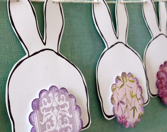 Bunny Garland | Bunny Butts Bunting - lavender and purple tails