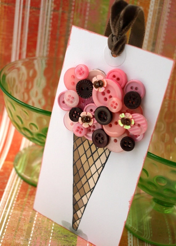 Ice Cream Cone Tag