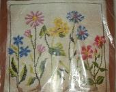 Vintage Bernat Botanical Needlework Kit by Laurel Blake