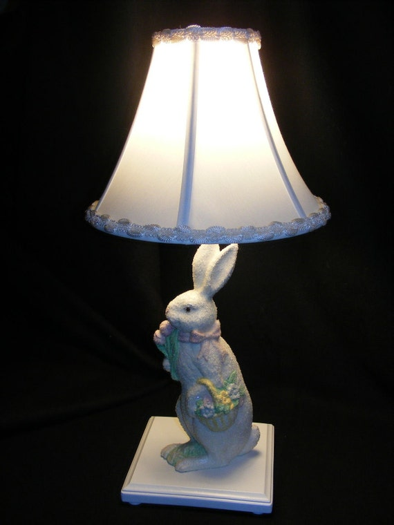 White Bunny Rabbit Lamp Perfect For Nursery