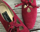 RESERVED FOR katenic - vintage HOLLY ANN UNIQUE SLIP ONS size 10