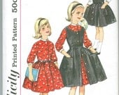 Simplicity 4122 Girl Size 7 Vintage 1961 Dress Jumper Sewing Pattern