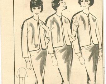Advance 9895 Vintage 60s Sheath Dress and Jacket Sewing Pattern Size 14 Bust 34