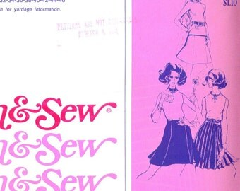 Stretch & Sew 425 Vintage 60s Gored Skirts Sewing Pattern Size XS S M L XL UNCUT