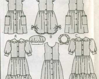 Childrens 6 View Pinafore Dress Sewing Pattern Sizes 2, 3 and 4 b6430