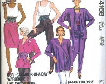 Misses Jacket Top Skirt and Pants Sewing Pattern Size Small 10 12