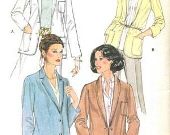 Vogue 7074 Vintage 1970s Jacket Sewing Pattern Size 12