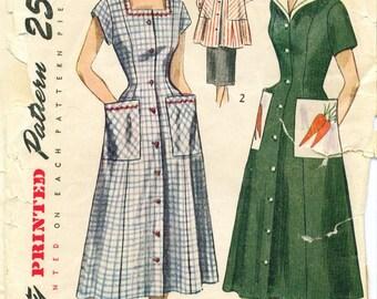 Vintage 1951 Dress or Smock Sewing Pattern Size 12 s3423