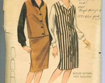 Vintage 1960s Jumper Jacket and Skirt Sewing Pattern Size 14 b3276