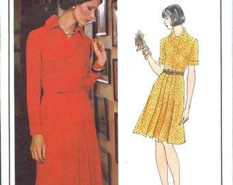 Vogue 2947 Christian Dior Vintage 1970s Dress Sewing Pattern Size 10