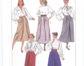 Simplicity 7856 Misses skirt sewing pattern size 14