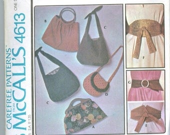 Vintage 1975 Bags and Belts Sewing Pattern m4613